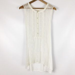 ANTHROPOLOGIE | tiny sleeveless sheer top 0157
